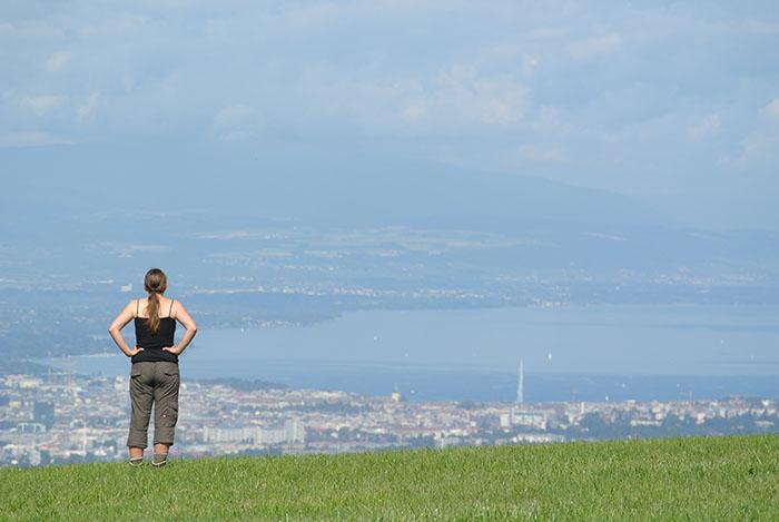 Wunderschöne Aussicht auf den Genfer See