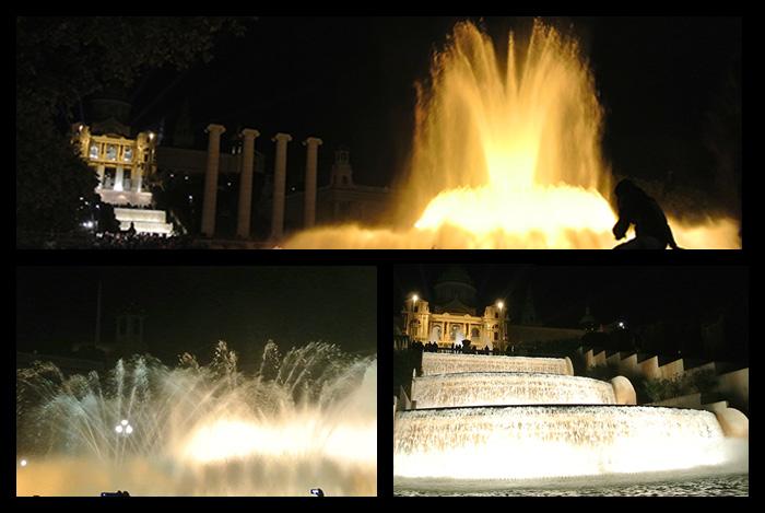 Unglaubliche Wassershow am plaza de España!