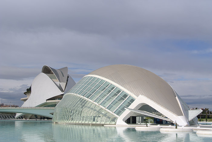 Futuristisches City of Science in Valencia (da hat aber jemand mächtig viel Geld ausgegeben!)