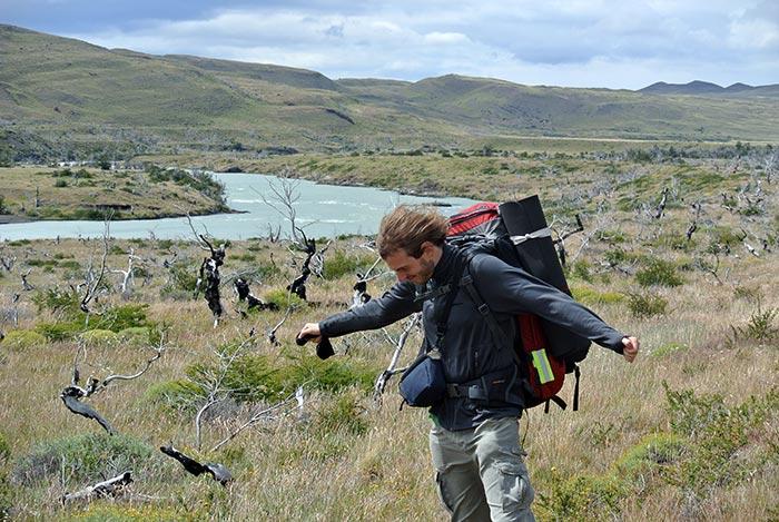 Gleich am ersten Tag bekamen wir den patagonischen Wind mit über 80km/h zu spüren!