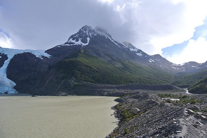 Erster Ausblick auf den Gletscher!