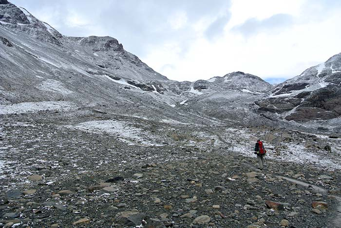 Aufstieg zum John Garner Pass!
