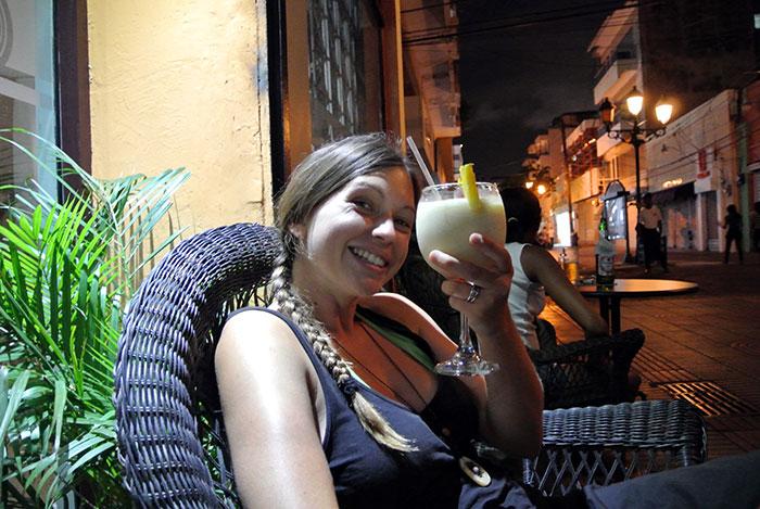 Wir genießen unsere letzte dominikanische Pina Colada