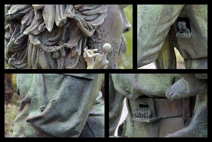 Die Details einer Che-Statue zeigen wichtige Stationen seines Lebens